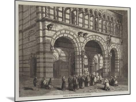 Portion of the Facade of Lucca Cathedral--Mounted Giclee Print