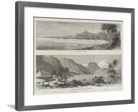 The Samoa Islands, in the Pacific Ocean--Framed Art Print