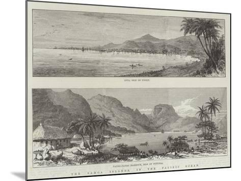 The Samoa Islands, in the Pacific Ocean--Mounted Giclee Print