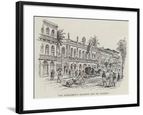 The President's Mansion, Rio De Janeiro--Framed Art Print