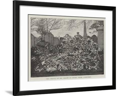 The Grave of Dr Allon in Abney Park Cemetery--Framed Art Print