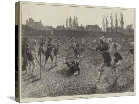 The Game of La Crosse, as Played in Canada--Stretched Canvas Print