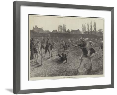 The Game of La Crosse, as Played in Canada--Framed Art Print