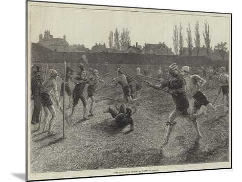 The Game of La Crosse, as Played in Canada--Mounted Giclee Print