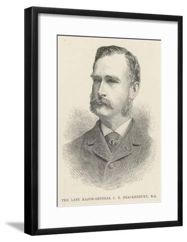 The Late Major-General C B Brackenbury, RA--Framed Art Print