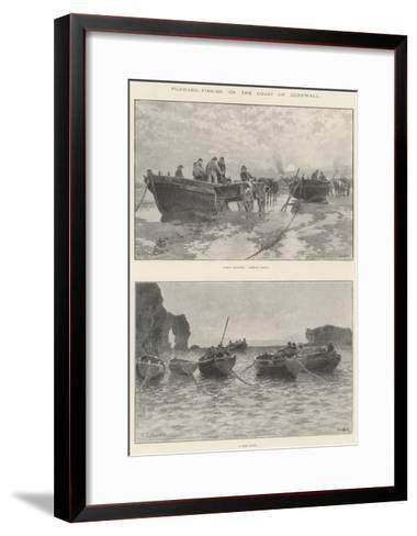 Pilchard-Fishing on the Coast of Cornwall--Framed Art Print