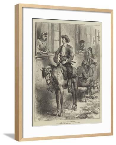 The War, a Friend in Hospital--Framed Art Print