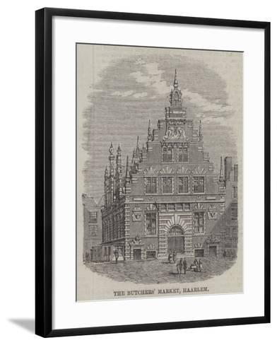 The Butchers' Market, Haarlem--Framed Art Print