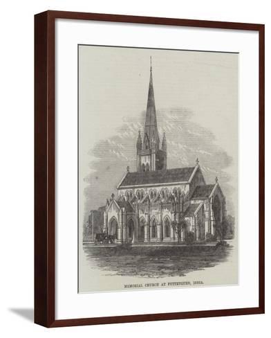 Memorial Church at Futteygurh, India--Framed Art Print