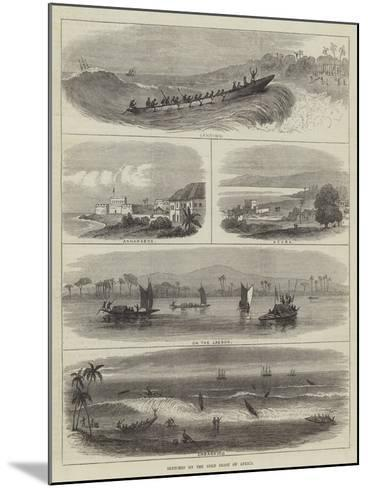 Sketches on the Gold Coast of Africa--Mounted Giclee Print