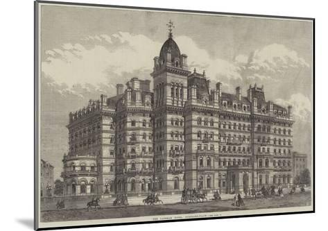 The Langham Hotel, Portland-Place--Mounted Giclee Print