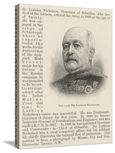 The Late Sir Lothian Nicholson--Stretched Canvas Print
