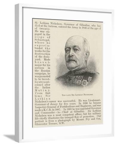 The Late Sir Lothian Nicholson--Framed Art Print