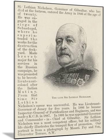 The Late Sir Lothian Nicholson--Mounted Giclee Print