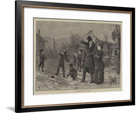 The Compliments of the Season--Framed Art Print