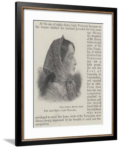 The Late Emily, Lady Tennyson--Framed Art Print