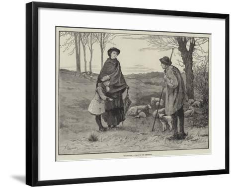 Spring-Time, a Visit to the Shepherd--Framed Art Print