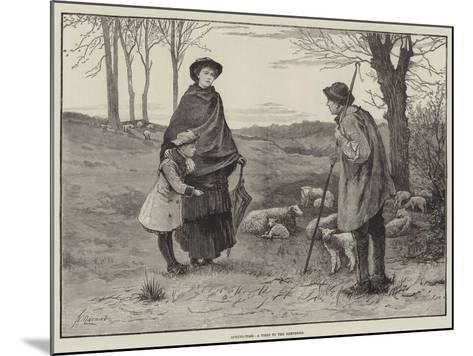 Spring-Time, a Visit to the Shepherd--Mounted Giclee Print