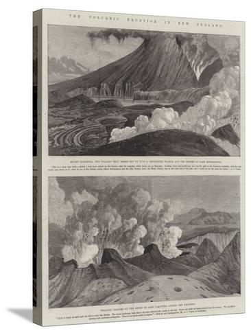 The Volcanic Eruption in New Zealand--Stretched Canvas Print