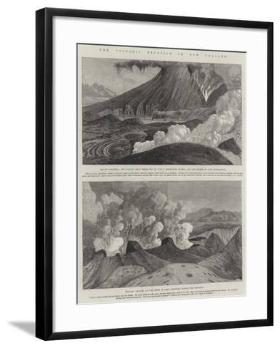 The Volcanic Eruption in New Zealand--Framed Art Print