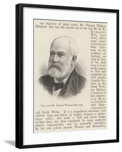 The Late Mr Thomas William Kennard--Framed Art Print