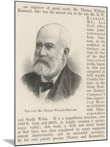 The Late Mr Thomas William Kennard--Mounted Giclee Print