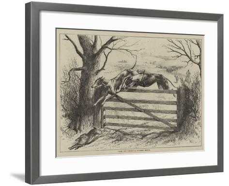 Over and Under, a Coursing Sketch--Framed Art Print