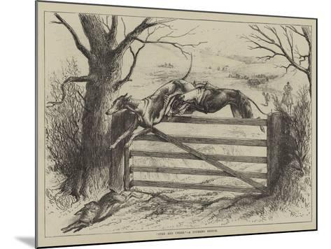 Over and Under, a Coursing Sketch--Mounted Giclee Print