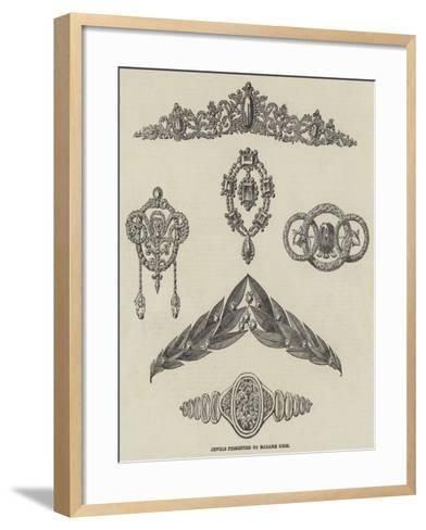 Jewels Presented to Madame Grisi--Framed Art Print