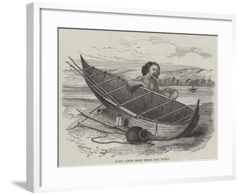 Bark Canoe from Terra Del Fuego--Framed Art Print