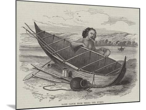Bark Canoe from Terra Del Fuego--Mounted Giclee Print