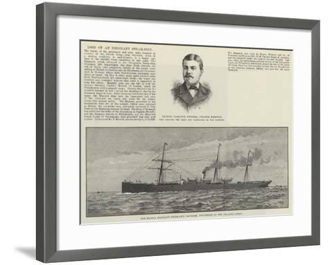 Loss of an Emigrant Steam-Ship--Framed Art Print