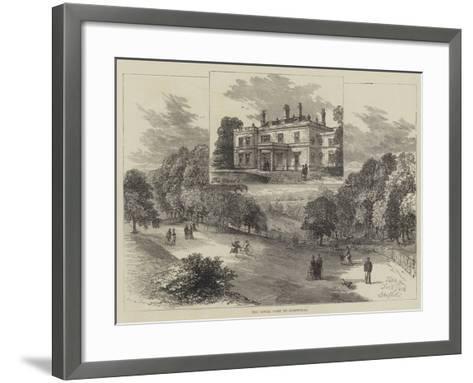 The Royal Visit to Sheffield--Framed Art Print