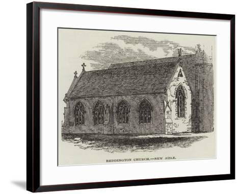 Beddington Church, New Aisle--Framed Art Print