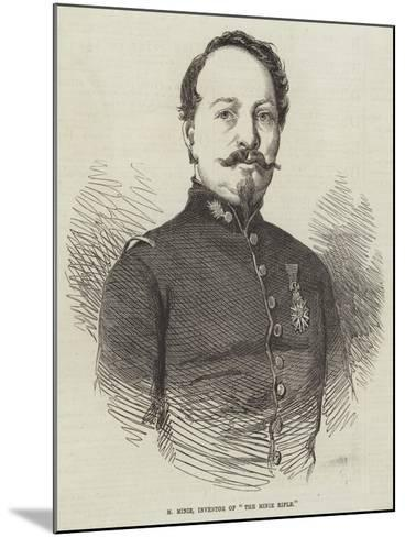 M Minie, Inventor of The Minie Rifle--Mounted Giclee Print