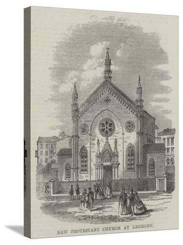 New Protestant Church at Leghorn--Stretched Canvas Print