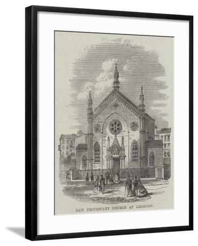 New Protestant Church at Leghorn--Framed Art Print