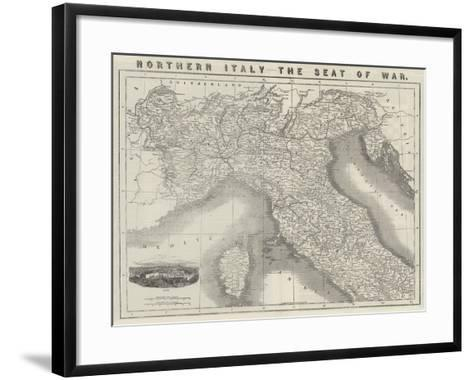Northern Italy, the Seat of War--Framed Art Print