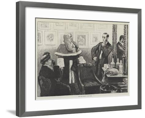 Wigs and Wigdom, a New Judge--Framed Art Print