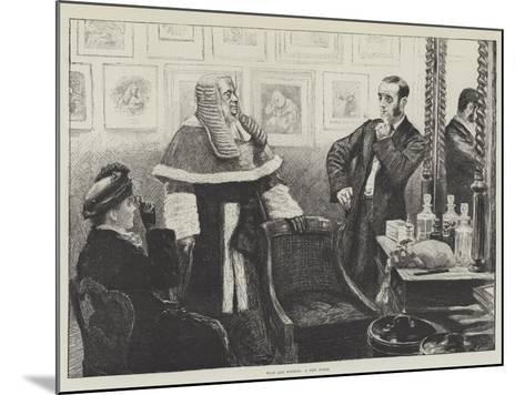 Wigs and Wigdom, a New Judge--Mounted Giclee Print