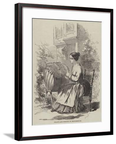 Pillow-Lace Working in Bedfordshire--Framed Art Print