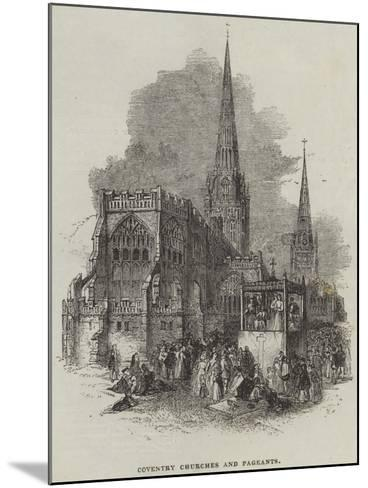 Coventry Churches and Pageants--Mounted Giclee Print