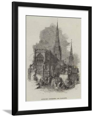 Coventry Churches and Pageants--Framed Art Print