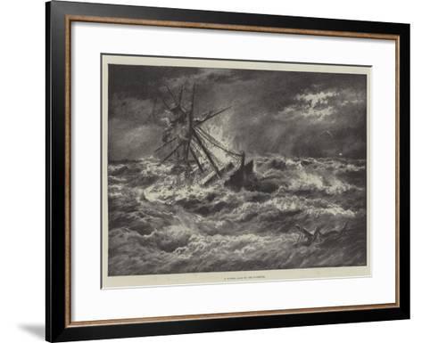 A Winter Gale on the Goodwins--Framed Art Print