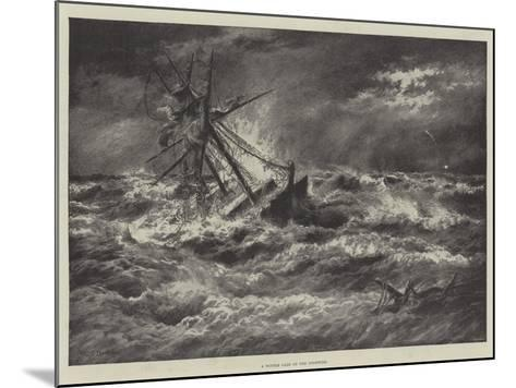A Winter Gale on the Goodwins--Mounted Giclee Print