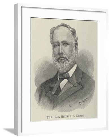 The Honourable George R Dibbs--Framed Art Print