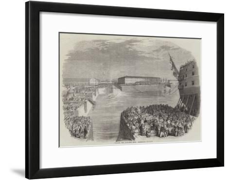 Filling the Napoleon Dock, Cherbourg--Framed Art Print