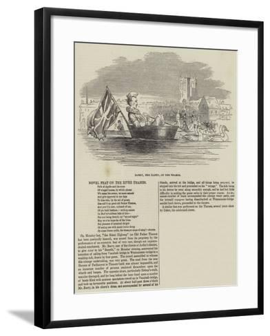Barry, the Clown, on the Thames--Framed Art Print