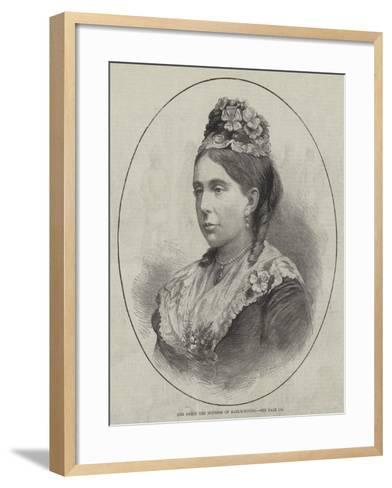 Her Grace the Duchess of Marlborough--Framed Art Print