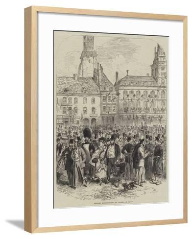 English Excursionists at Calais--Framed Art Print